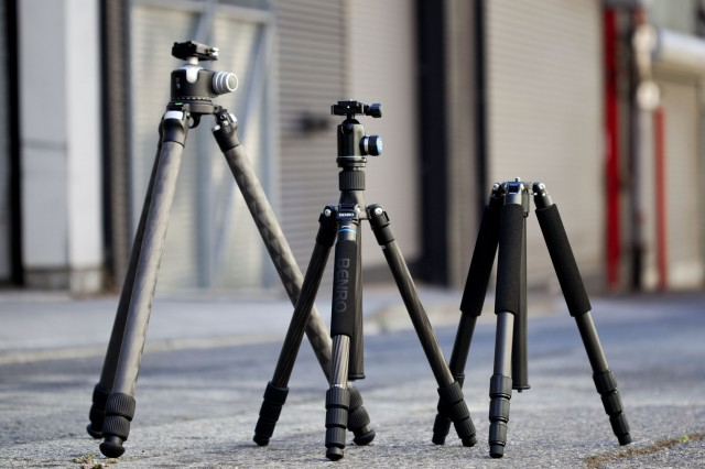 Carbon Fiber Tripods. Photo: Josh Valcarcel/WIRED